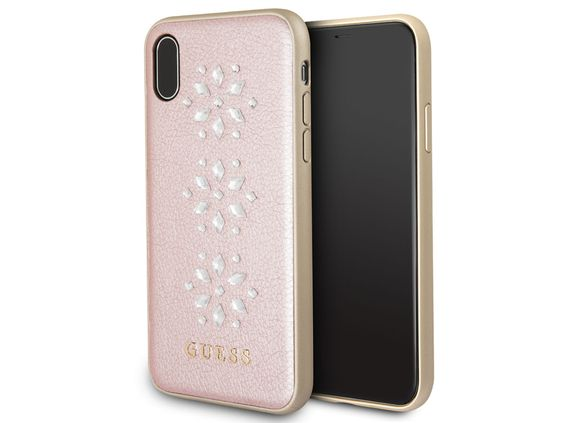 iPhone X Guess Diamond Snow Flake Book case