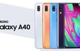 Galaxy A40 ម៉ូតអេក្រង់ Infinity-U ប្រើឈីប Exynos 7885 និងមានកាមេរ៉ាមុខ 25 មេហ្គាភិចសែល បានចេញជាផ្លូវការ