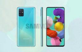 ប្រទះឃើញរូបភាពគម្រូថ្មី បង្ហាញពីរចនាបថផ្ទៃខាងមុខនិងខាងក្រោយរបស់ Galaxy A51
