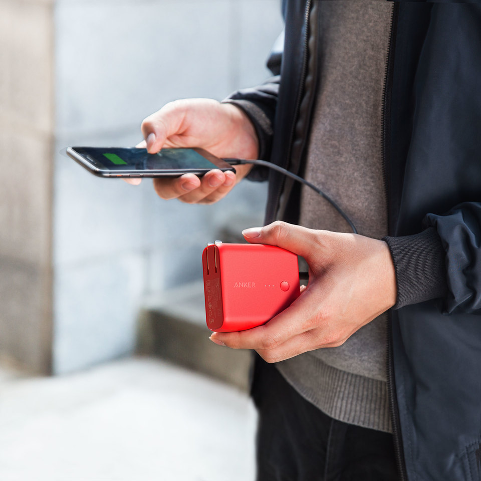 ANKER 5000mah Powerfusion RED