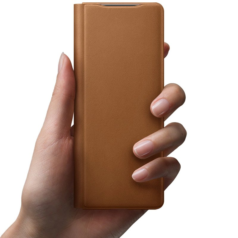 Z Fold 2 Leather Cover